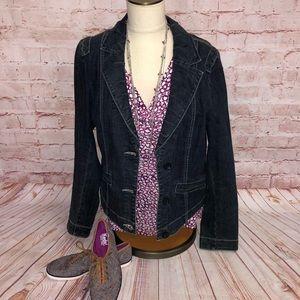 Cabi jeans denim jacket women's large